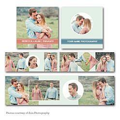 Pretty Love Accordion Mini Book (3x3)