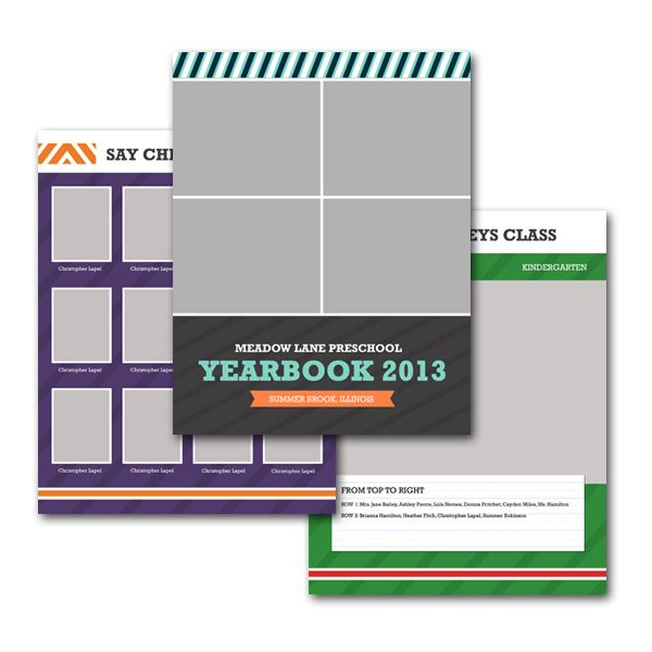 school yearbook template 8 5 11. Black Bedroom Furniture Sets. Home Design Ideas