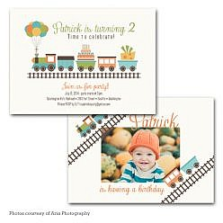 Chugga Choo Birthday Invitation Card