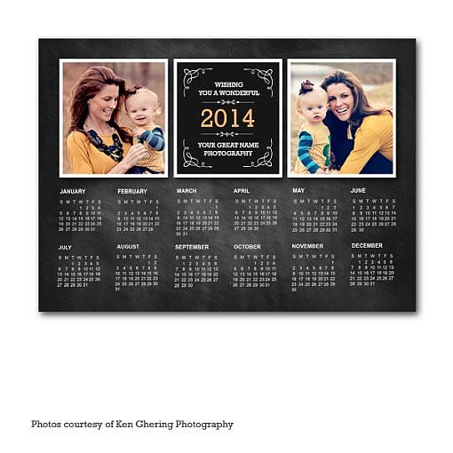 Chalky 2014 Calendar Card Template 1