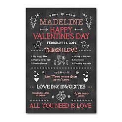 Valentine's Day Chalkboard Template