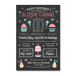 Birthday Girl Chalkboard Template