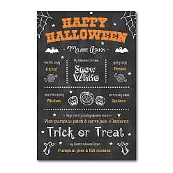 Halloween Chalkboard Template