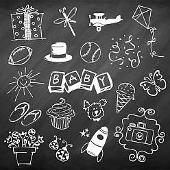 Fun Doodle Chalkboard Overlays