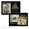 Gold Bright Holiday Card Template