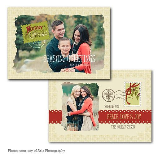 Season Greetings Holiday Card Template  1