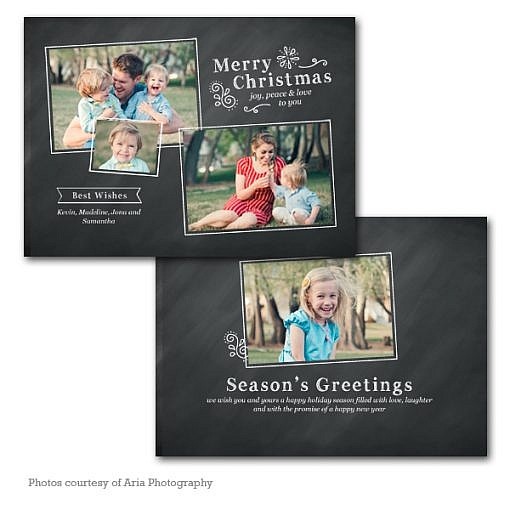 Holly Days Holiday Card Template  1