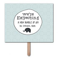 We're Expecting Pregnancy Announcement Photo Prop Template
