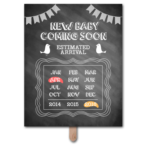 Coming Soon Pregnancy Announcement Photo Prop Template – Baby Announcement Template Free