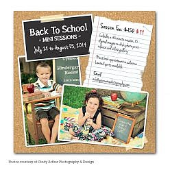 School Is Back Marketing Board