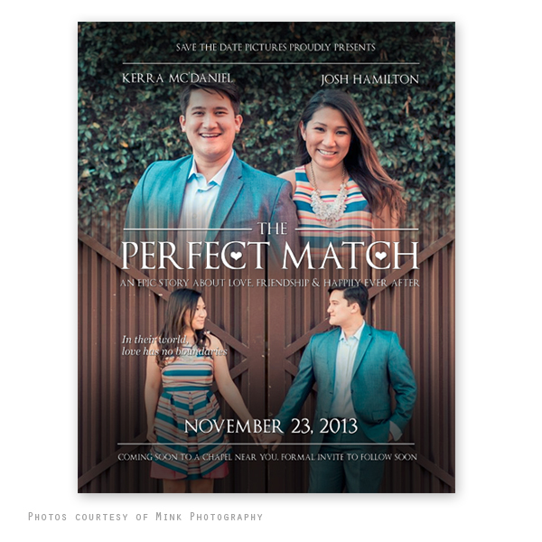 movie poster save the date template