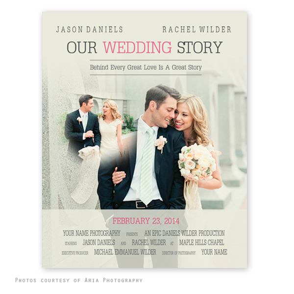 movie poster wedding template