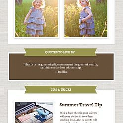 July 2014 Newsletter Template