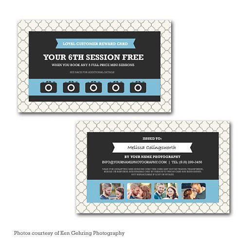 loyalty reward program punch card. Black Bedroom Furniture Sets. Home Design Ideas