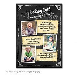 Baby Chalk Model Casting Card Template