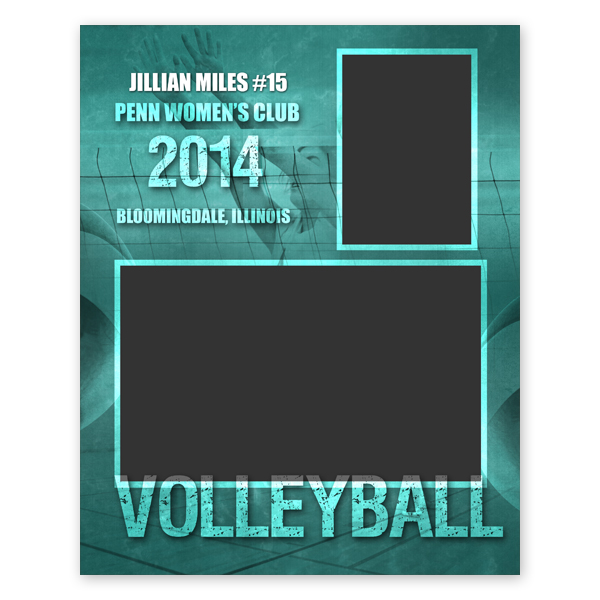 Volleyball Sports Memory Mate Template |