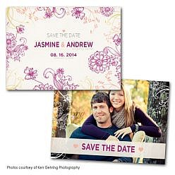 Bloom Lilac Save the Date Card