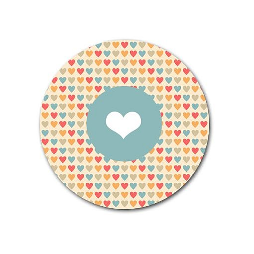 Heart pop sticker template for Elit templates sticker