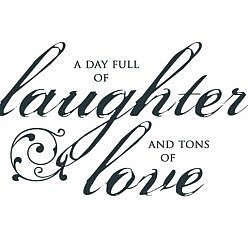 Laughter Love Word Art