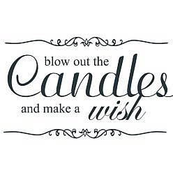 Candle Wish Word Art