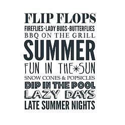 Flip Flops Word Art