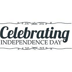 Celebrating Independence July Word Art