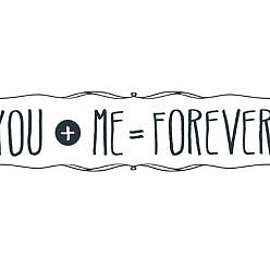 You + Me Word Art