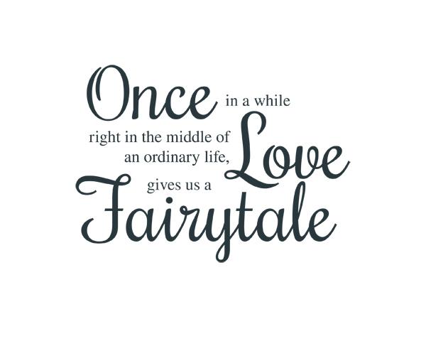Love Fairytale Word Art 1