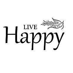 Live Happy Word Art