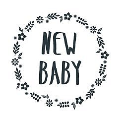 New Baby Word Art
