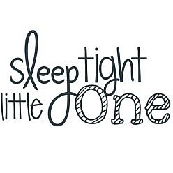 Sleep Tight Word Art