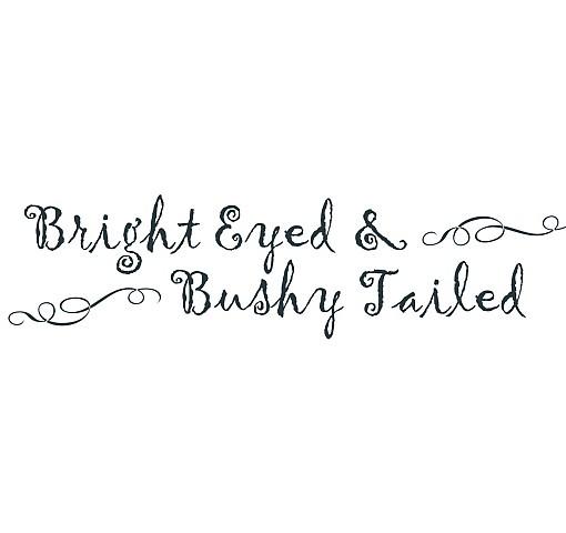 Bushy Tailed Word Art 1
