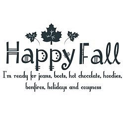 Happy Fall Word Art