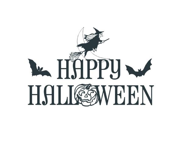 happy halloween word art 1