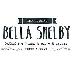 Bella Shelby Word Art