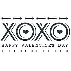 XOXO Valentine's Day Word Art