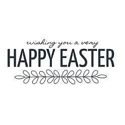 Wishing Easter Word Art