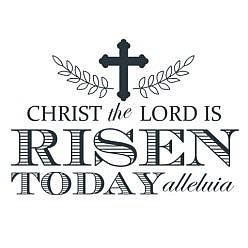 Risen Today Word Art