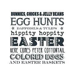 Bunny Beans Word Art