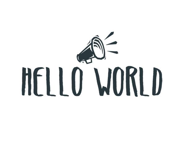 Hello World Word Art