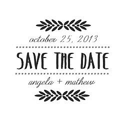 Angela Save The Date Word Art