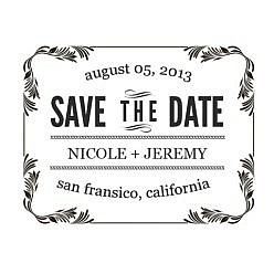 Nicole Save The Date Word Art