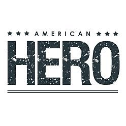 American Hero Word Art