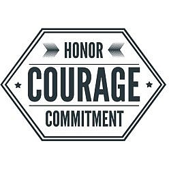 Honor Courage Word Art