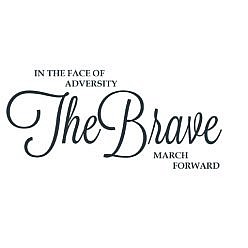 Brave Forward Word Art