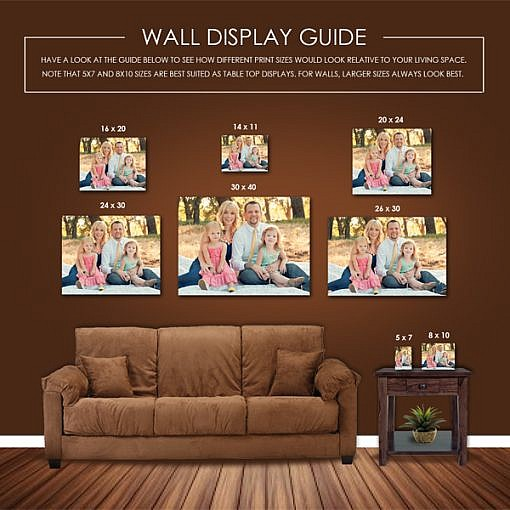 Wall display presentation template - Photo wall display template ...