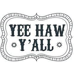 Yee Haw Word Art