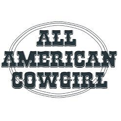 All American Cowgirl Word Art