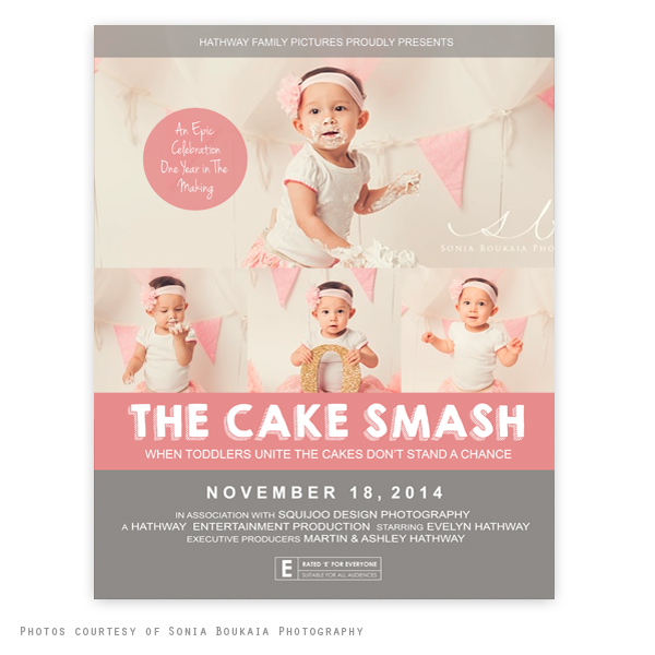 the cake smash movie poster template