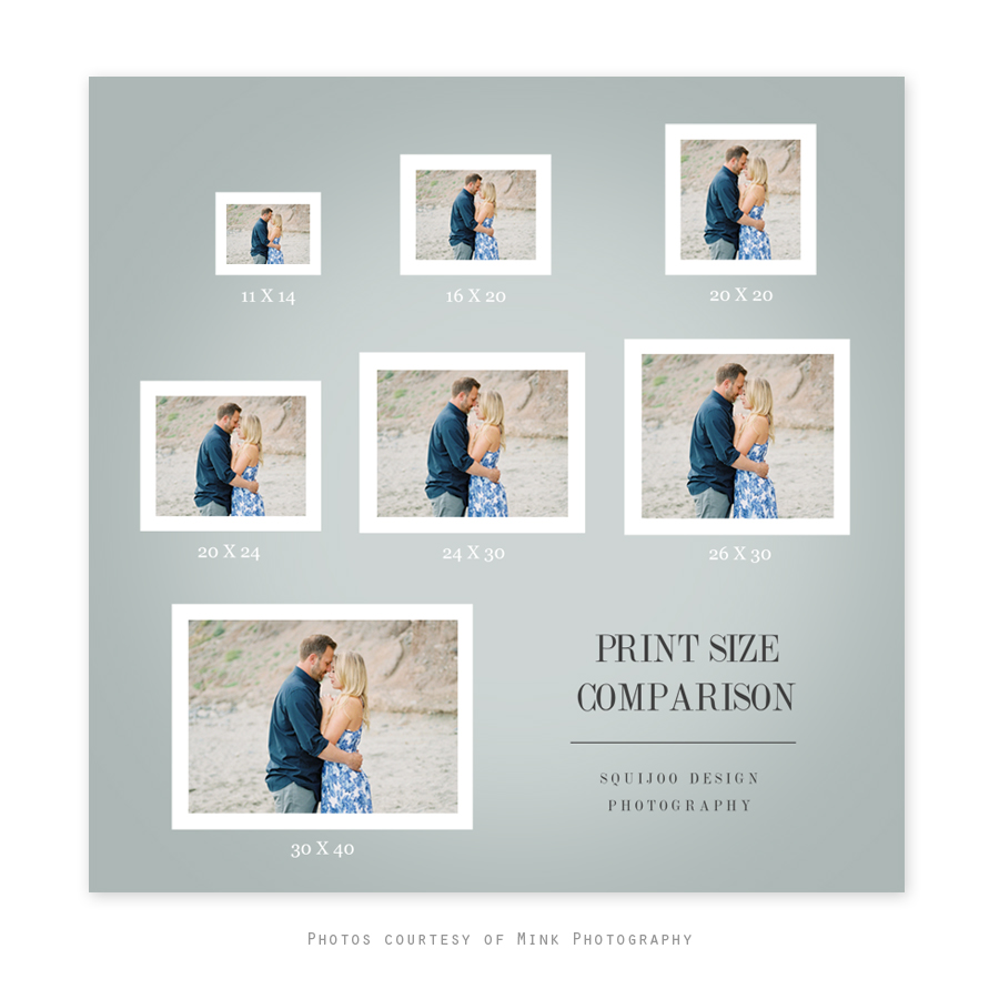 Print Size Guide Ͽ� Esp: Print Size Comparison Template